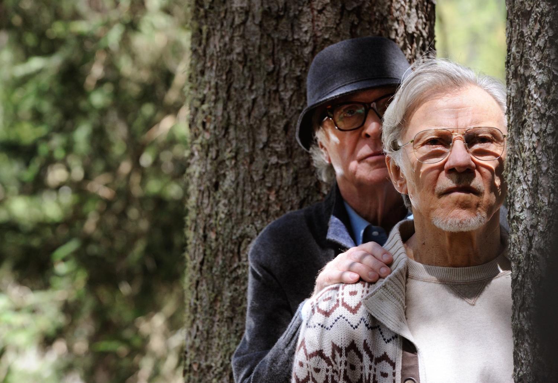 """SET DEL FILM """"LA GIOVINEZZA"""" DI PAOLO SORRENTINO. NELLA FOTO MICHAEL CAINE E HARVEY KEITEL. FOTO DI GIANNI FIORITO"""